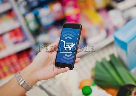 konceptuel billede af online shopping