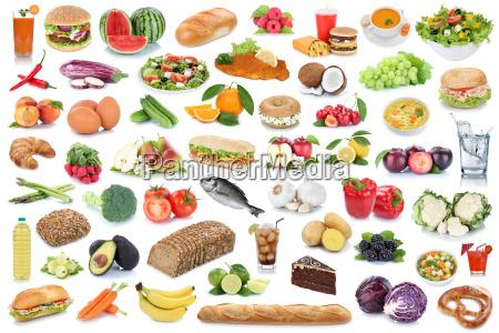 mad collage sund ernaering frugt og