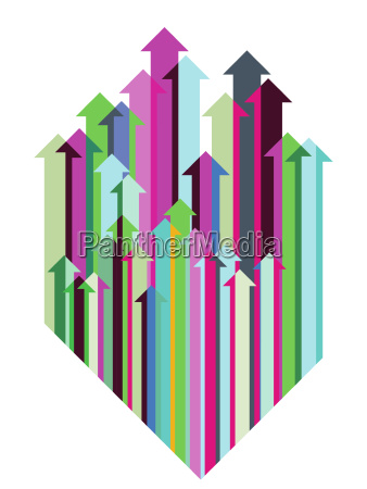 colorful arrow direction aboveillustration