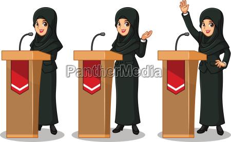 set of businesswoman in black suit