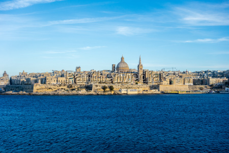 skyline of valletta capital of malta