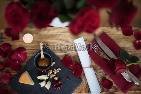 romantisk stadig liv for en valentins