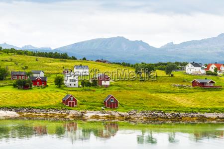 norway nordland vestvagoey lofoten island houses
