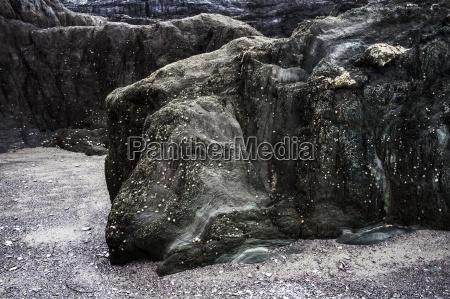 strand seaside stranden kysten sten stenmasse