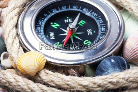 havet kompas pa en baggrund med