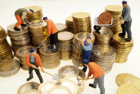 tjeneste handvaerker bygge symbolsk euro mont