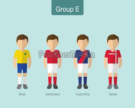 2018 fodbold eller fodboldhold uniform gruppe