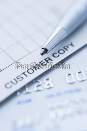 makrooptagelse naerbillede detalje vinkelret lodret kreditkort