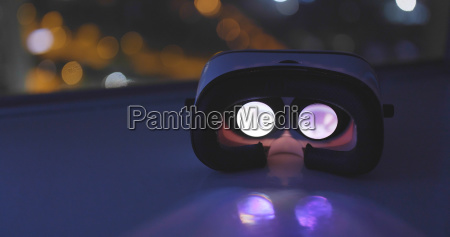 virtual reality device with the city