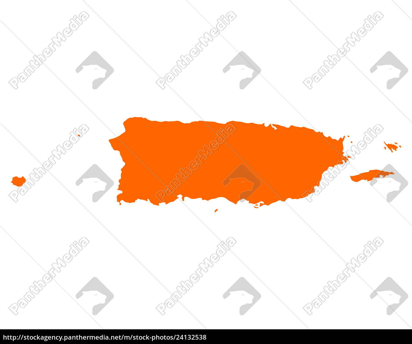 Kort Over Puerto Rico Stockphoto 24132538 Panthermedia