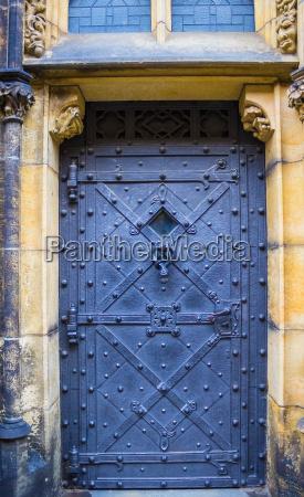 old door in the prague