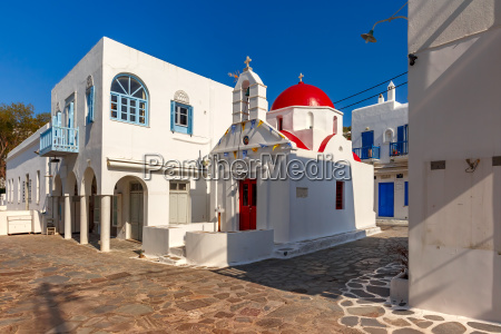 agia anna church on island mykonos