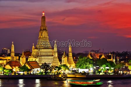 tempel thailand bangkok skelsaettende tinding