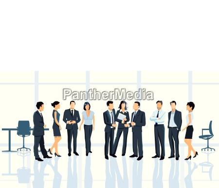 business aftale pa kontoret med forretningsfolk