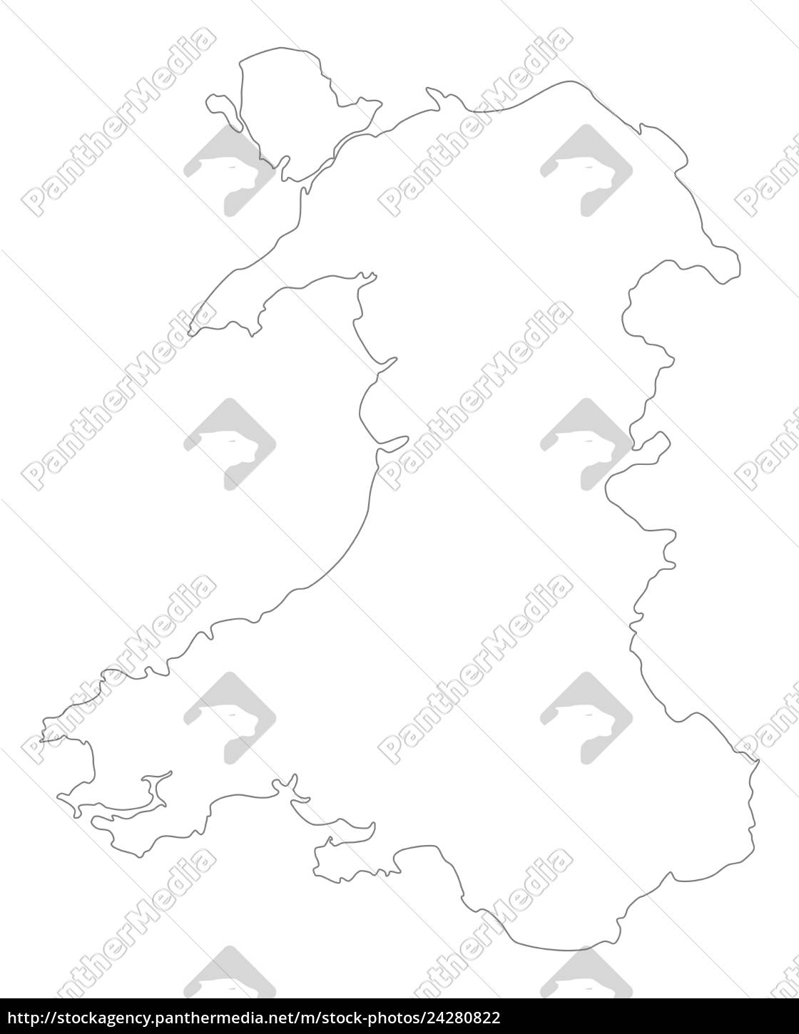 Kort Over Wales Stockphoto 24280822 Panthermedia Billedbureau