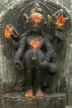 relief of god shiva med oprejst