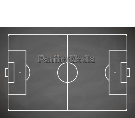 gra sort bord fodboldbane