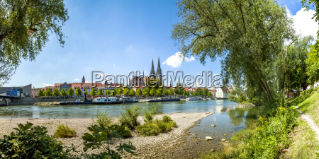 germany regensburg view to the old