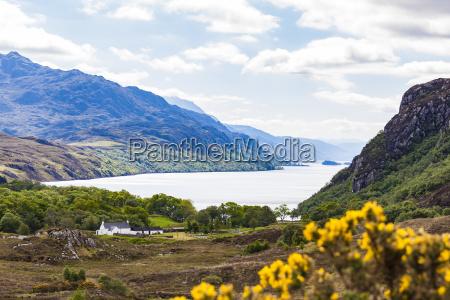 storbritannien skotland highland loch maree ferskvands