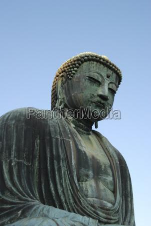 low angle view of giant buddha