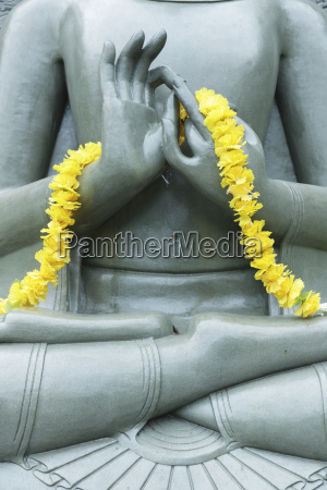 cropped image of buddha statue with