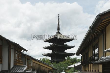 lav vinkel udsigt over yasaka pagoda