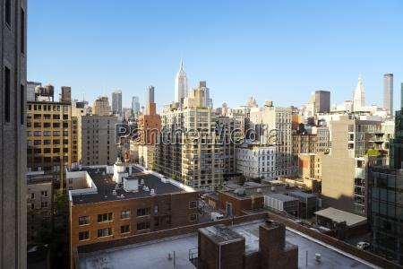 view of buildings in city against