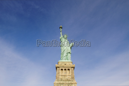 low angle view of statue of