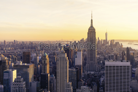 high angle view cityscape against sky
