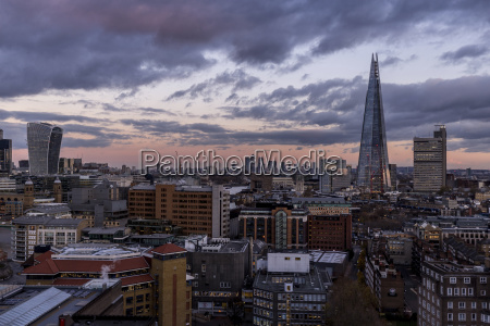 aerial view of shard london bridge