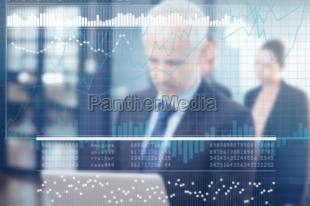 sammensat billede af business interface med