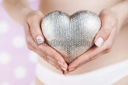 heart beautiful pregnant woman belly
