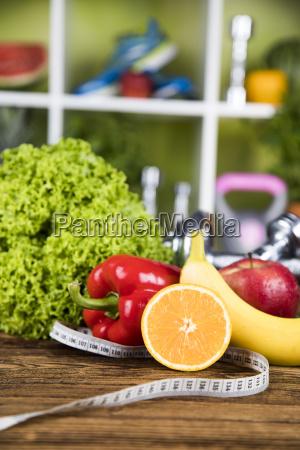 dieting dumbell healthy eating healthy food