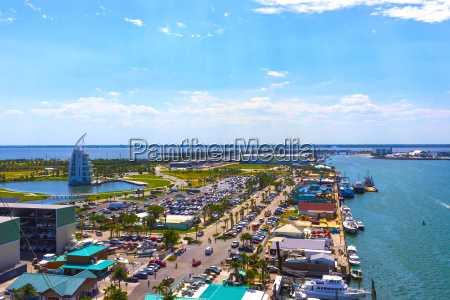 cape canaveral usa the arial view