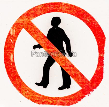 forbudstegnforbudt adgang for mennesker