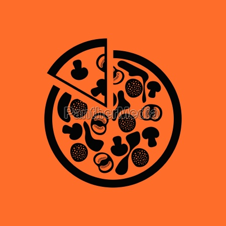 pizza on plate icon
