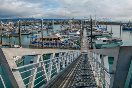 indgang rampe svaevende post havnefaciliteter alaska