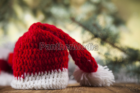 red santa hat holiday christmas background