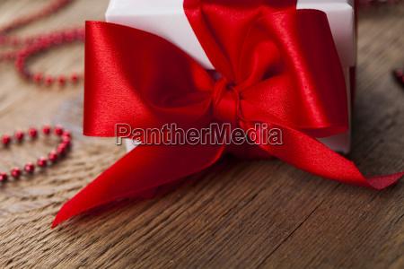 christmas gift box red ribbon