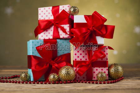 set of gift box christmas background
