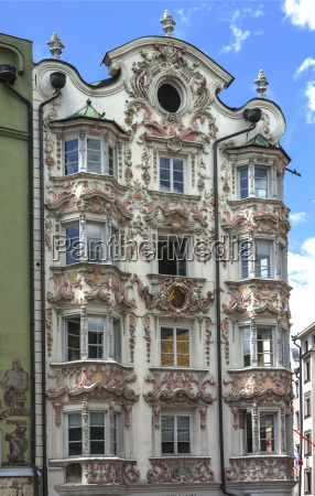helblinghaus with baroque stucco1725herzog friedrich strasseinnsbrucktyrolaustria