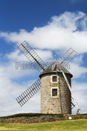 an old stone windmill on a