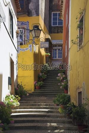 steps through alleyway sintra portugal