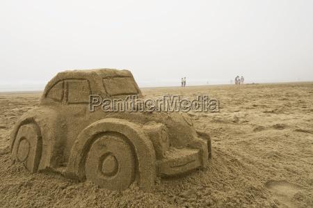 car sand sculpture pacific city pacific