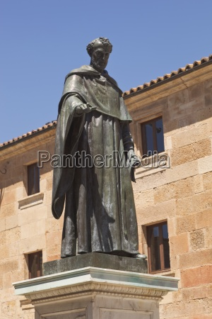 statue of augustinian friar fray luis