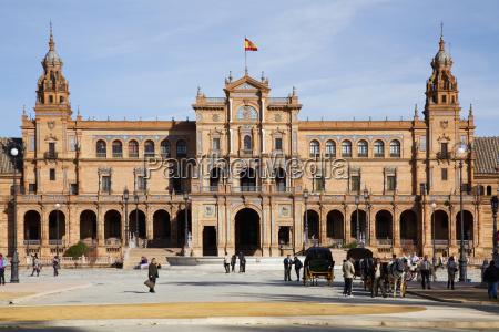 placa de espana sevilla andalusia spain