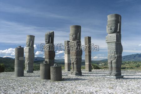 mexico close up of tula stone