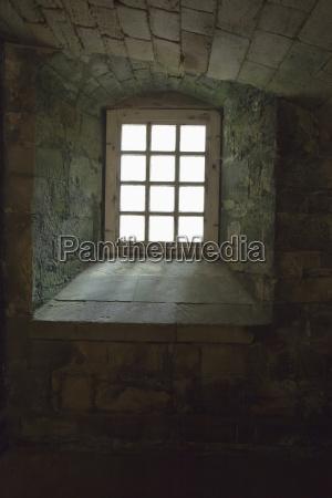 et trae indrammet vindue med en