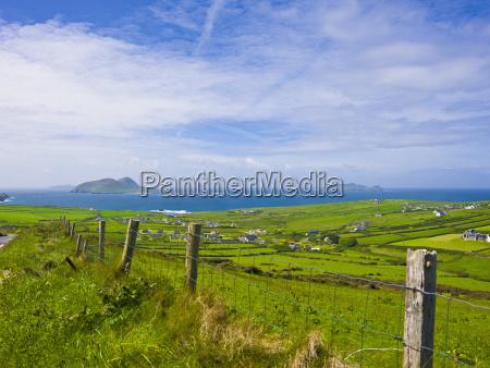 ireland county kerry dingle blasket farmland