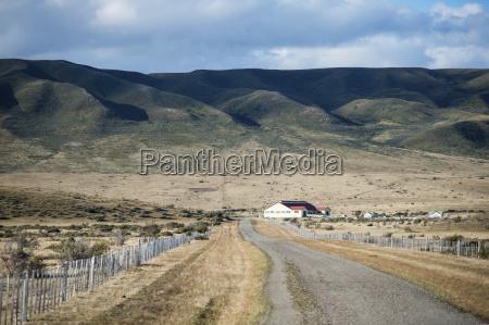 chilean farm house at the end